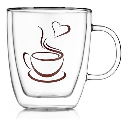 Термокружка с рисунком Lovely Coffee (350 мл), 9.3х11 см