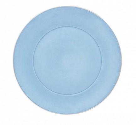 Тарелка десертная Ptala Simples Silver Rain, 23 см, голубая