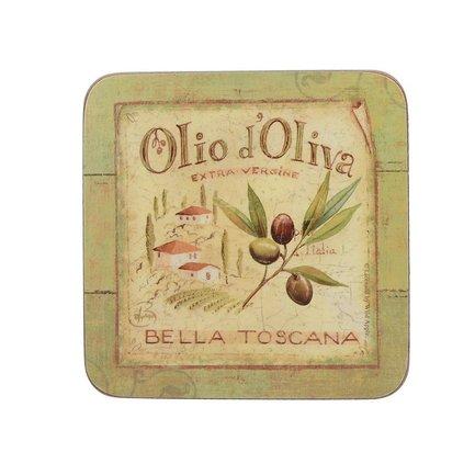 Подставка пробковая Olio D Oliva, 10х10 см, 6 шт