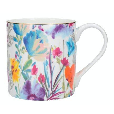 кружка arabia finland хатифнатты цвет мультиколор 300 мл Кружка Meadow Floral Can (350 мл), 8.5х13 см C000591 Creative Tops