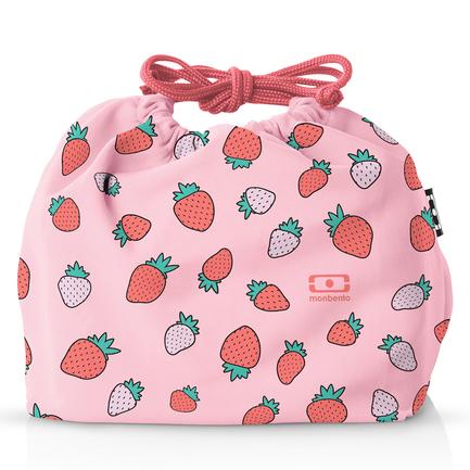 Мешочек для ланча Pochette strawberry, 20х19х7 см, розовый