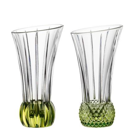 Набор ваз Spring с зеленым дном, 13.6 см, 2 шт.