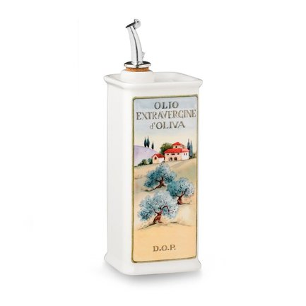 Бутылка для масла Oliere del Casale (500 мл), 23х8х8 см, белая