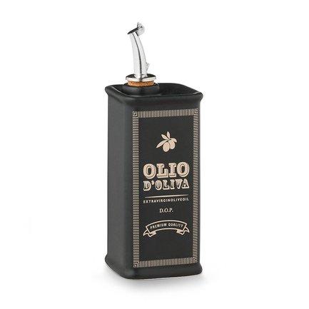 Бутылка для масла Oliere Vintage (500 мл), 23х8х8 см, черная