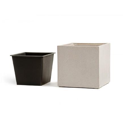 Фото - Кашпо Effectory Beton Куб, 20х20х20 см, белый песок 41.3317-02-005-BE-20 Treez кашпо effectory beton куб 20х20х20 см темно серый бетон без технич горшка 41 3317 02 005 gr xl 20 treez