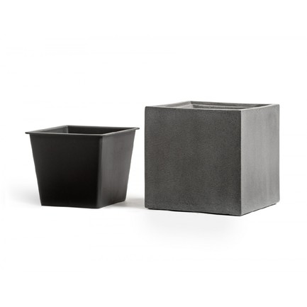 Фото - Кашпо Effectory Beton Куб, 20х20х20 см, темно-серый бетон 41.3317-02-005-GR-20 Treez кашпо effectory beton куб 20х20х20 см темно серый бетон без технич горшка 41 3317 02 005 gr xl 20 treez