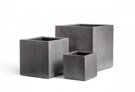 Фото - Кашпо Effectory Beton Куб, 40х40х40 см, темно-серый бетон 41.3317-02-005-GR-40 Treez кашпо effectory beton куб 20х20х20 см темно серый бетон без технич горшка 41 3317 02 005 gr xl 20 treez