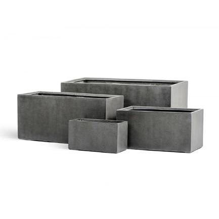 Фото - Кашпо Effectory Beton Низкий прямоугольник, 45х100х45 см, темно-серый бетон 41.3319-02-019-GR-100 Treez кашпо effectory beton куб 20х20х20 см темно серый бетон без технич горшка 41 3317 02 005 gr xl 20 treez