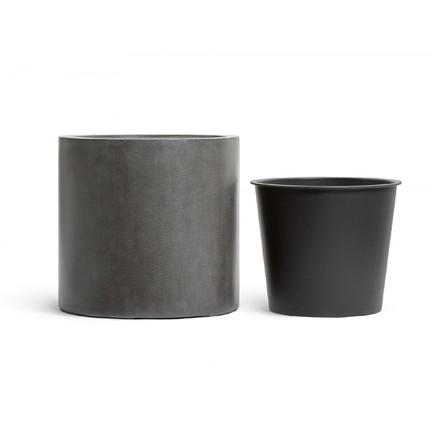 Фото - Кашпо Effectory Beton Цилиндр, 51х53 см, темно-серый бетон 41.3320-02-028-GR-53 Treez кашпо effectory beton куб 20х20х20 см темно серый бетон без технич горшка 41 3317 02 005 gr xl 20 treez