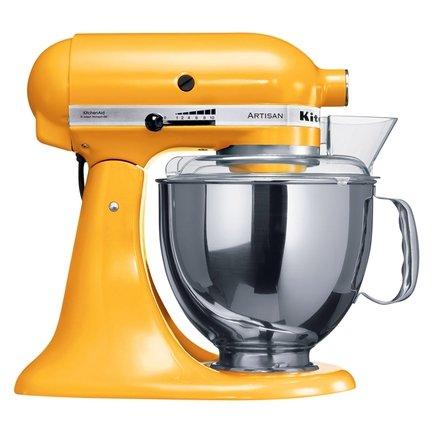 KitchenAid Миксер планетарный, дежа (4.83 л), 3 насадки, 5KSM150PSEYP, желтый перец