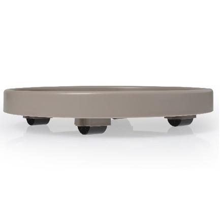 Подставка на колесах, 30х6.2 см, серо-коричневая