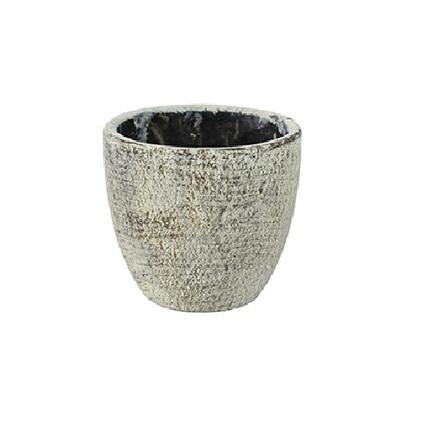 Кашпо керамическое Anne, 8х8 см, серое
