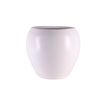 Кашпо керамическое Cresta, 28х25 см, белое