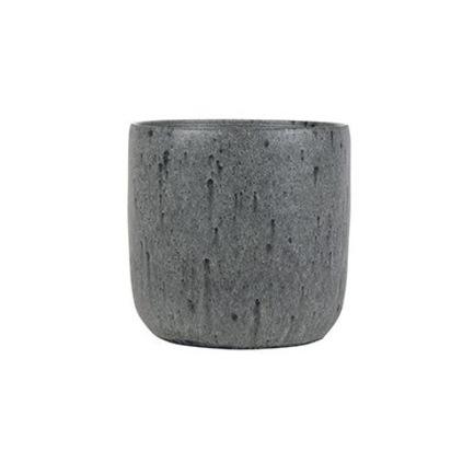 Кашпо керамическое Evelyn, 20х19 см, винтажное серое