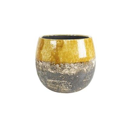 Кашпо керамическое Lindy, 16х13 см, охра