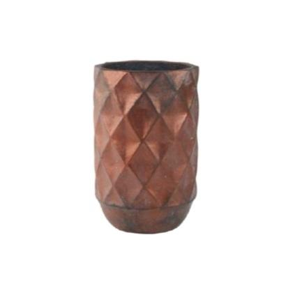 Кашпо керамическое Lux, 27х43 см, бронзовое