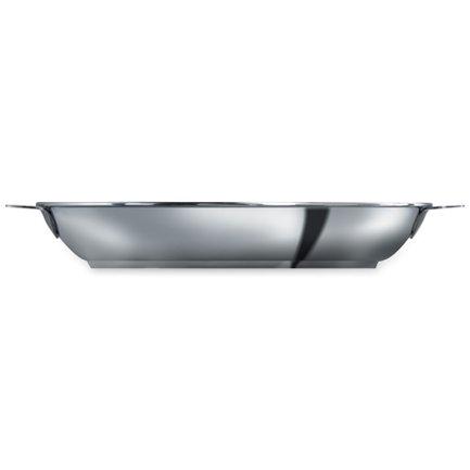 Cristel Сковорода без ручек L Enveloppant, 28х3.5 см, матированная (P28QL)  cristel сковорода без ручек l enveloppant с антипригарным покрытием экскалибур 20х2 5 см матированная p20qle