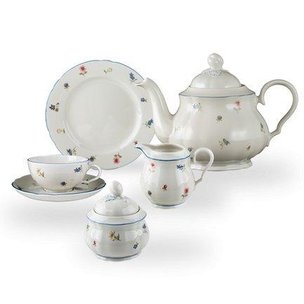 Seltmann Сервиз чайный на 6 персон Streublume, 21 пр. чайный сервиз 23 предмета на 6 персон bavaria кёльн b xw213y 23