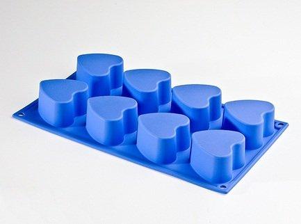 """Silikomart Форма """"Сердце"""", 6 см, 8 шт., светло-синяя SF040-PB-LBL"""