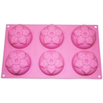 Silikomart Форма Нарциссы, 7.6 см, 6 шт., розовая, в подарочной упаковке silikomart форма круглая springlife 20 см светло зеленая в подарочной упаковке