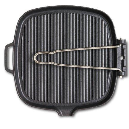 Сковорода-гриль, 27.5х25.5x1.5 см, чугунная