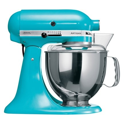 KitchenAid Миксер планетарный, дежа (4.83 л), 3 насадки,5KSM150PSECL,голубой