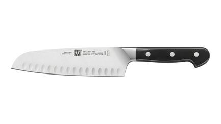Zwilling J.A. Henckels Нож сантоку с фестончатой кромкой Zwilling Pro, 180 мм
