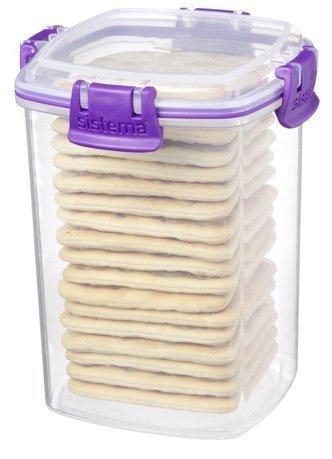 Контейнер для крекеров Klip-it (900 мл), 11.1х11.1х14.2 см 61332 Sistema контейнер для йогурта to go 150 мл 7 4х13 7 см 2шт 21466 sistema