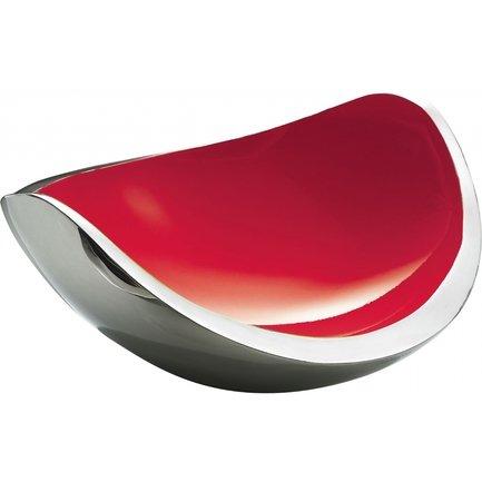 Ваза для фруктов NINNA NANNA, 38х30х16 см, красная 58-07808I3 Casa Bugatti