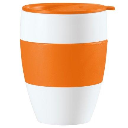 Koziol Кружка с крышкой AROMA TO GO (3569521), 9.2х12 см, оранжевая koziol кружка aroma koziol прозрачный сливовый