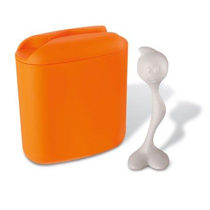 Koziol Контейнер для хранения продуктов HOT STUFF (3058521), 8.5х17х20 см (0.5 л), оранжевый koziol набор соль перец step n pep koziol оранжевый прозрачный
