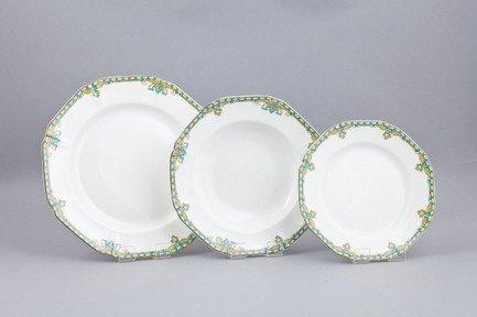Набор тарелок Лазурит на 6 персон, 18 пр. от Superposuda
