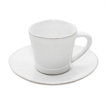 Costa Nova Чайная пара Nova (190 мл), белая, покрытие глазурь costa nova тарелка astoria 23 см белая покрытие глазурь