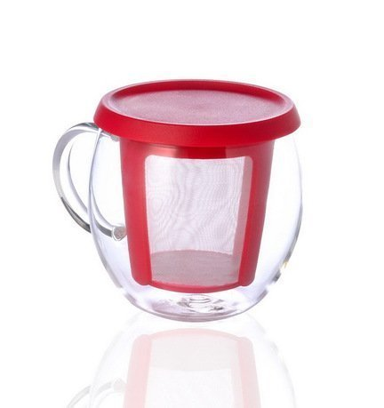 Kinto Кружка Mio (0.35 л), 9х12 см, красный