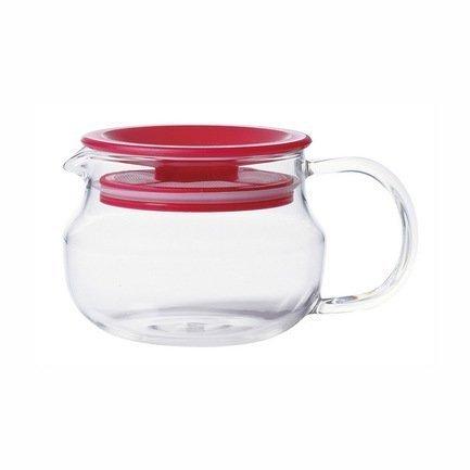 Kinto Чайник One touch (0.28 л), 8х13.2 см, красный 8681 Kinto kinto чайник trape 0 45 л белый 22842 kinto