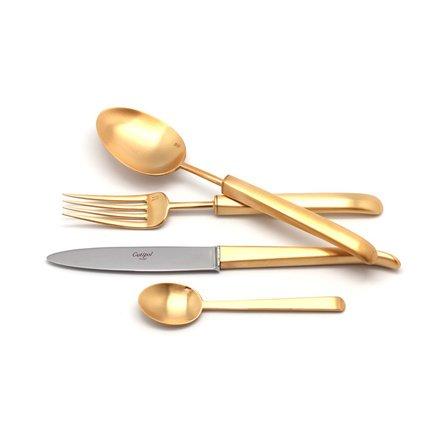 Cutipol Набор столовых приборов Carre gold, матовые, 24 пр. 9132 Cutipol набор столовых приборов cutipol next цвет серебристый 24 предмета 9240