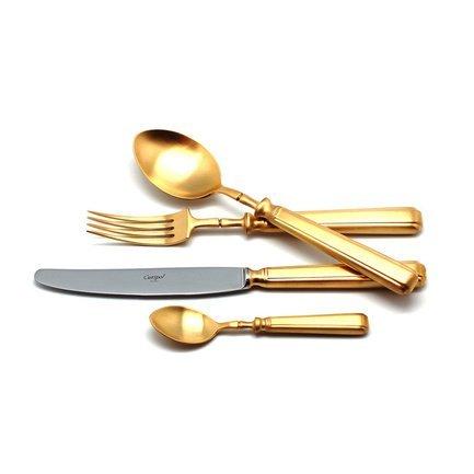 Cutipol Набор столовых приборов Piccadilly gold, матовые, 24 пр. 9142