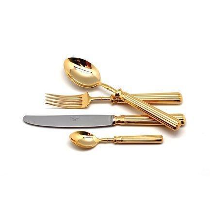 столовые приборы 24 пр bekker столовые приборы 24 пр Cutipol Набор столовых приборов Line gold, 24 пр.
