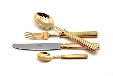 Cutipol Набор столовых приборов Line gold, 72 пр. 9171-72