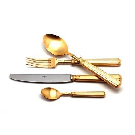 Cutipol Набор столовых приборов Line gold, матовые, 24 пр. 9172 Cutipol