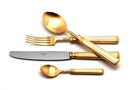 Cutipol Набор столовых приборов Line gold, матовые, 72 пр. 9172-72 Cutipol