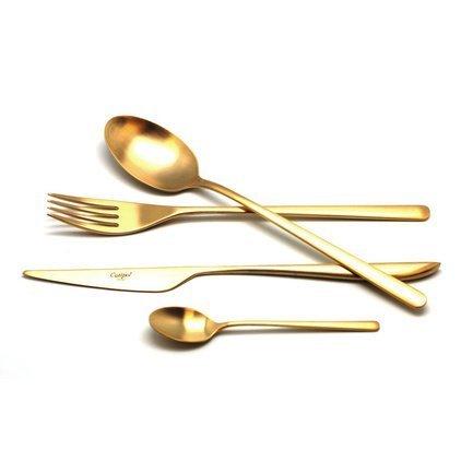 Cutipol Набор столовых приборов Icon gold, матовые, 24 пр. 9252 Cutipol
