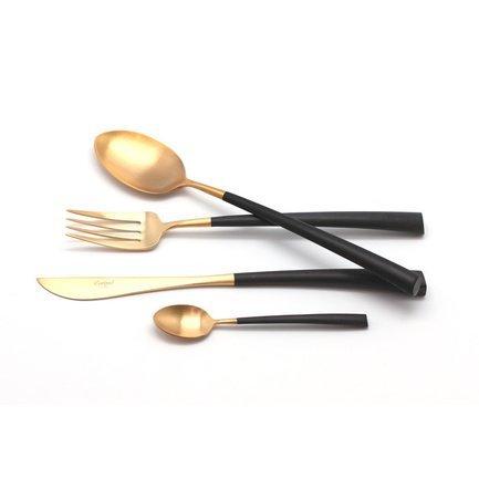 Cutipol Набор столовых приборов Noor gold, матовые, 24 пр. 9282 Cutipol