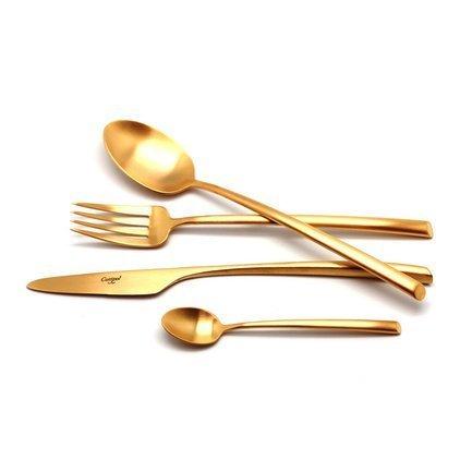 Cutipol Набор столовых приборов Mezzo gold, матовые, 24 пр. 9302 Cutipol