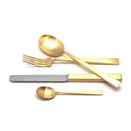 Cutipol Набор столовых приборов Bauhaus gold, матовые, 24 пр. 9322 Cutipol