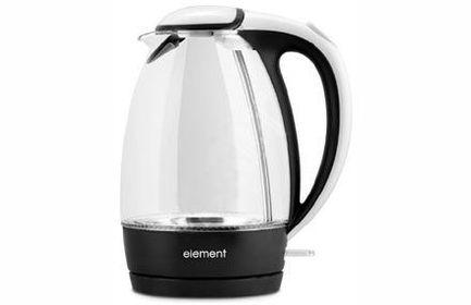 Element Чайник электрический ElKettle glass (1.7 л), черно-белый WF02GW