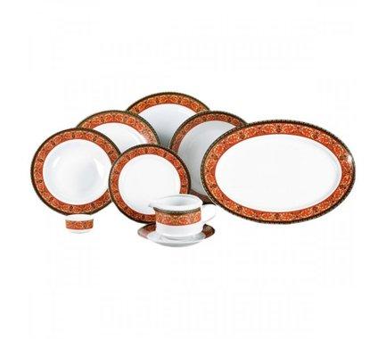 Leander Сервиз столовый Сабина Красная лента, 24 пр. 02162124-0979 Leander