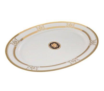Leander Блюдо овальное Сабина Золото Версаче, 39 см 02111525-A126 Leander leander блюдо для гарнира овальное сабина изящная платина 22 см