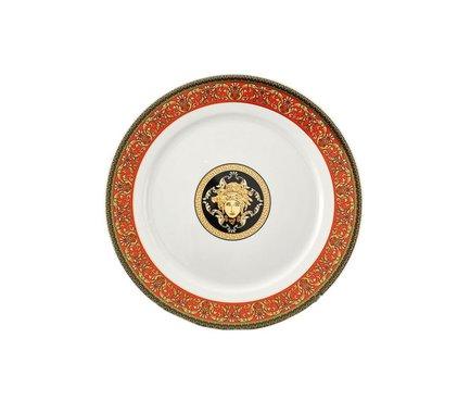 Leander Блюдо круглое Сабина Красная лента Версаче, мелкое, 30 см круглое блюдо для выпечки дерево жизни