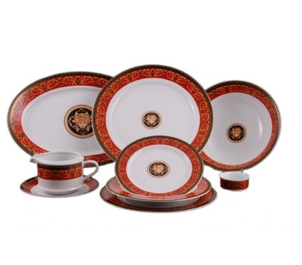 Leander Сервиз столовый Сабина Красная лента Версаче, 24 пр. 02162124-B979